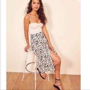 NWT Reformation Highland Linen Skirt in Jayne